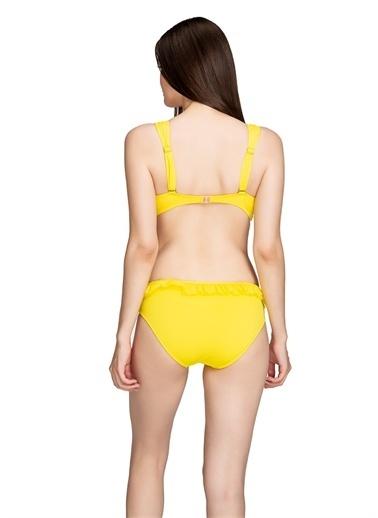 Dagi Üçgen Bikini Takimi Sarı